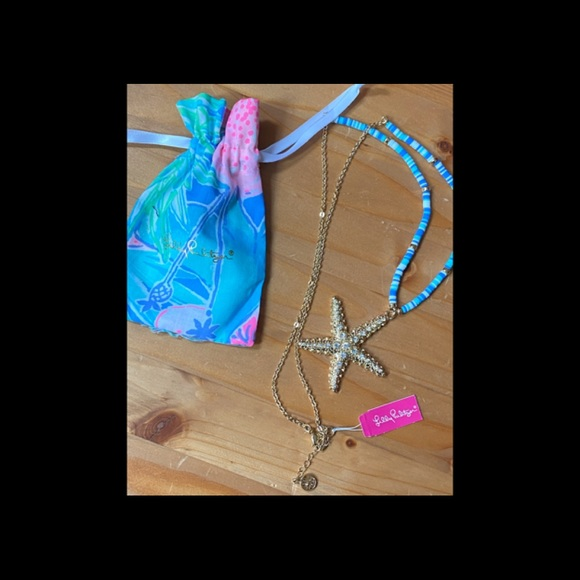 NWT LILLY PULITZER STARFISH NECKLACE SEASIDE VIBES